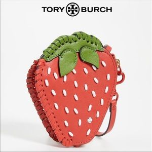 Tory Burch Strawberry Coin Pouch and Keychain